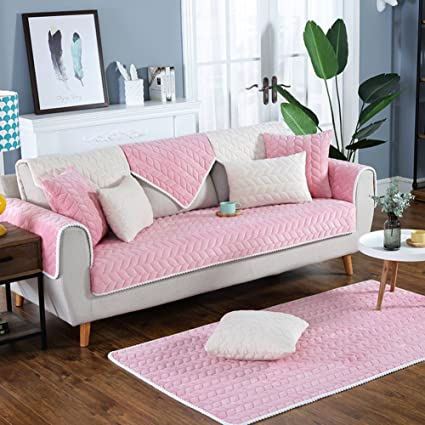 Amazon.com: lovehouse Plush Quilted Sofa Slipcover,Multi-size Soft ...