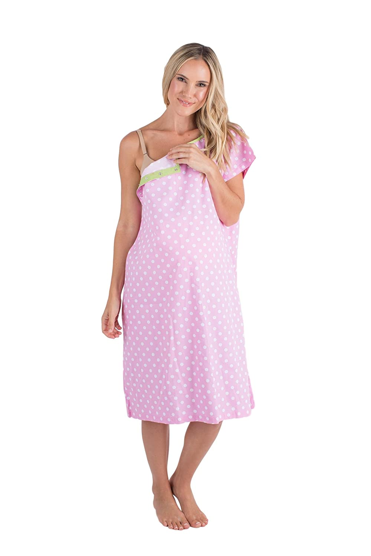 Baby Be Mine Gownies - Bañador de Maternidad para el Hospital Maternity, Bolsa de Hospital, Baby Shower - Rosado - L/XL Antes del Embarazo 10-16: Amazon.es: ...