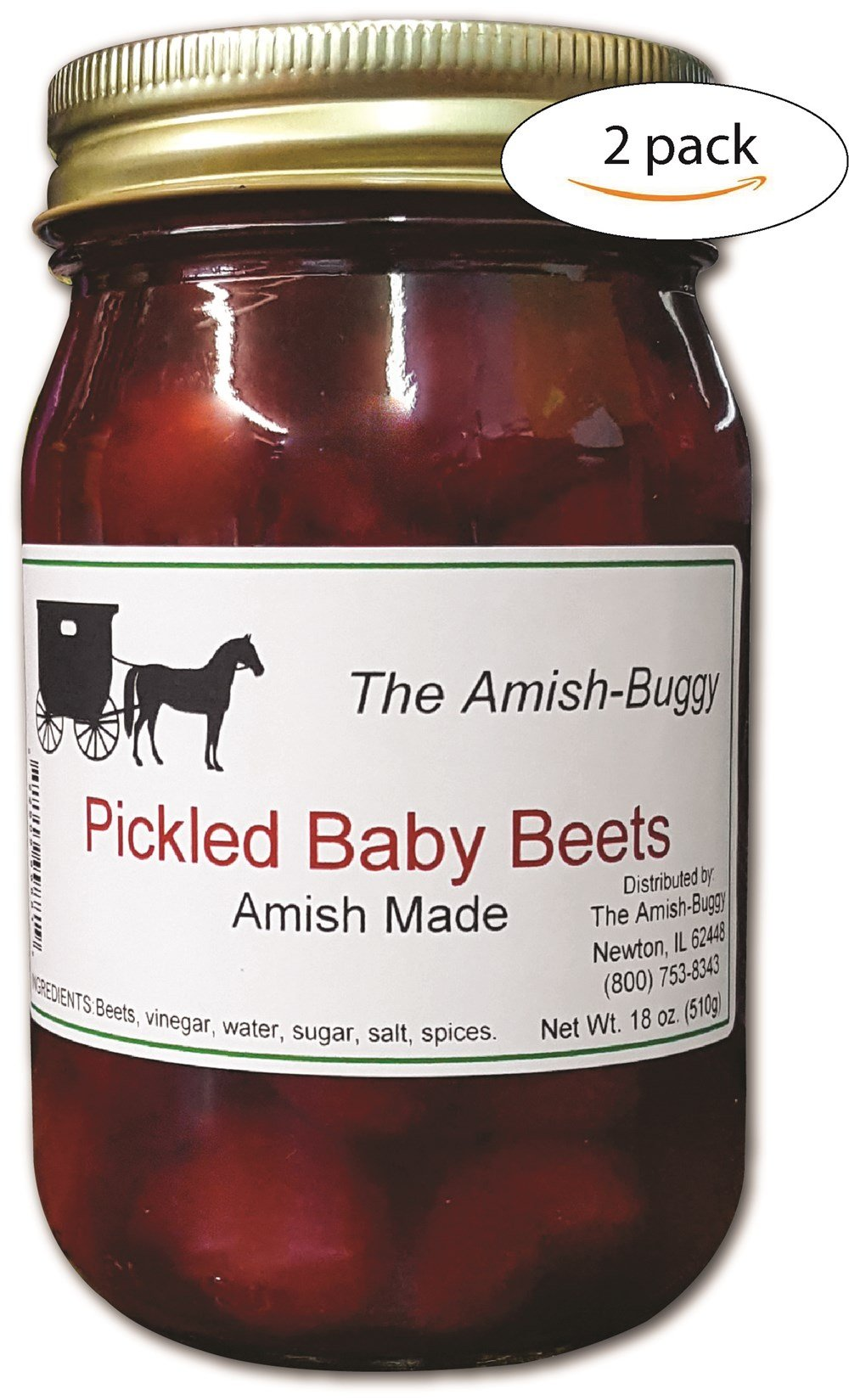 The Amish-Buggy Pickled Baby Beets, 2 jars 18 oz