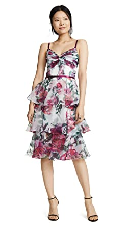 85c8ffe5 Marchesa Notte Women's Floral Organza Tiered Gown at Amazon Women's ...