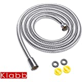 Klabb Shower Hose, 60 Inches (1.5m) Extra Long Chrome Handheld Shower Head Hose With Brass insert and nut