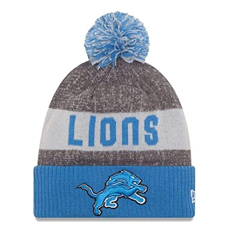 separation shoes 1a1f3 4c726 Image Unavailable. Image not available for. Color  New Era Knit Detroit  Lions Gray On Field Sideline Sport Knit Winter Stocking Beanie ...