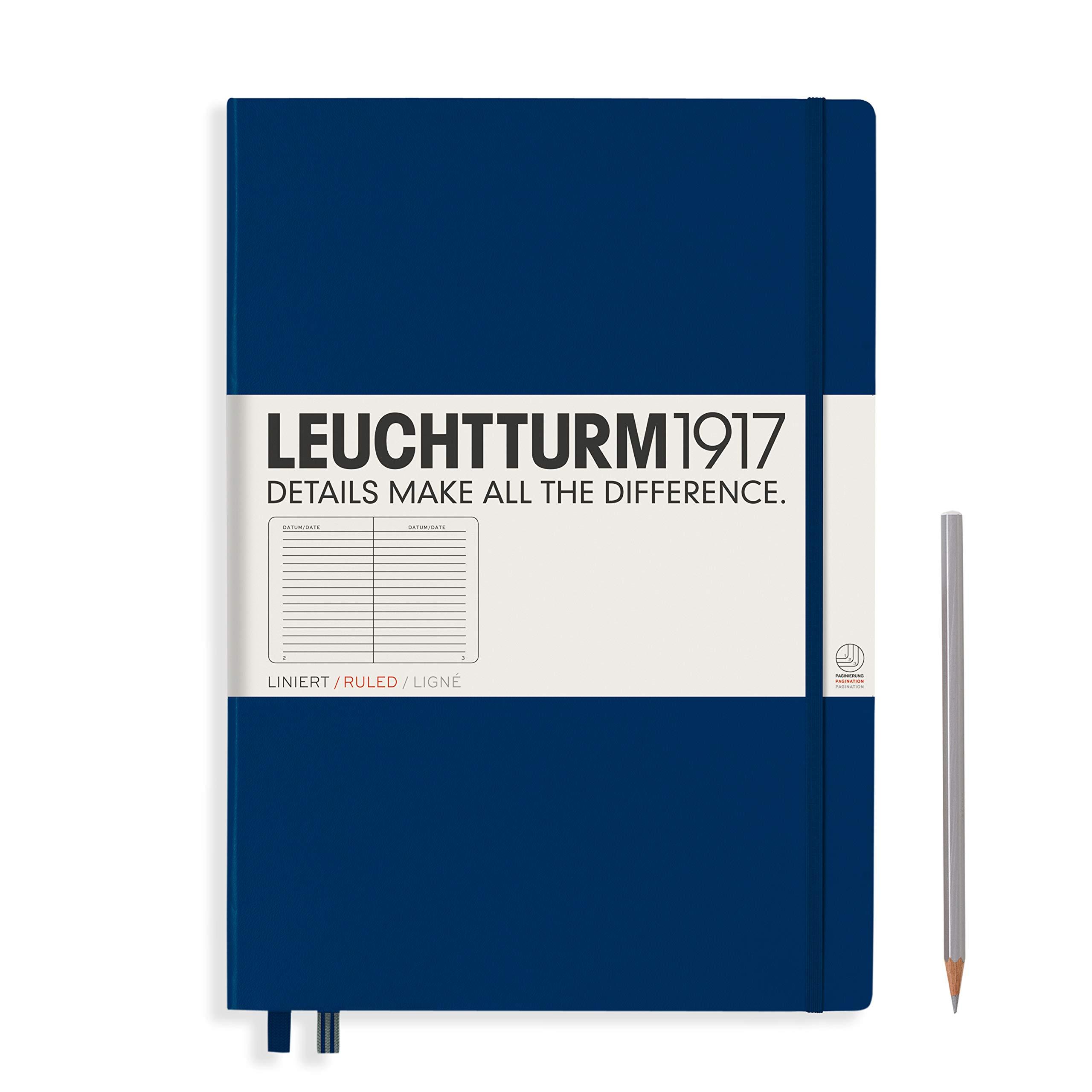 Leuchtturm1917 Navy, Master Classic 233 p., ruled