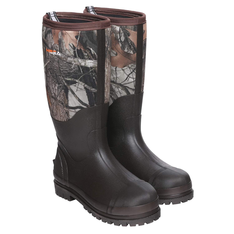 Hisea Rubber Hunting Boots for Men Waterproof Insulated Men's Neoprene Muck Outdoor Boots Camo by Hisea