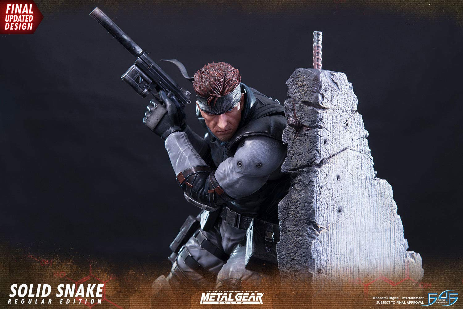 First 4 Figures Metal Gear Solid: Snake Statue, Multicolor