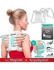 Sportstech Gesund&Fit in 2019! Geradehalter zur Haltungskorrektur - inkl. Softband + Magneten, gerader Rücken Haltungstrainer gegen Nacken- Schulterschmerzen, Damen + Herren Rückenhalter verstellbar