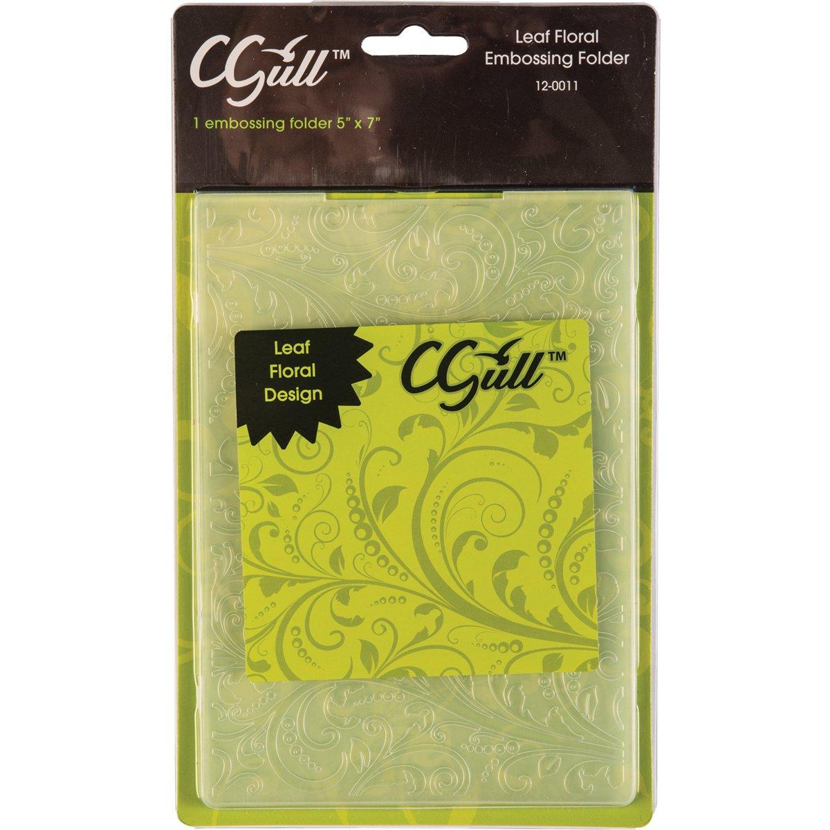 C-Gull Embossing Leaf Floral Folder 5x7-Inch