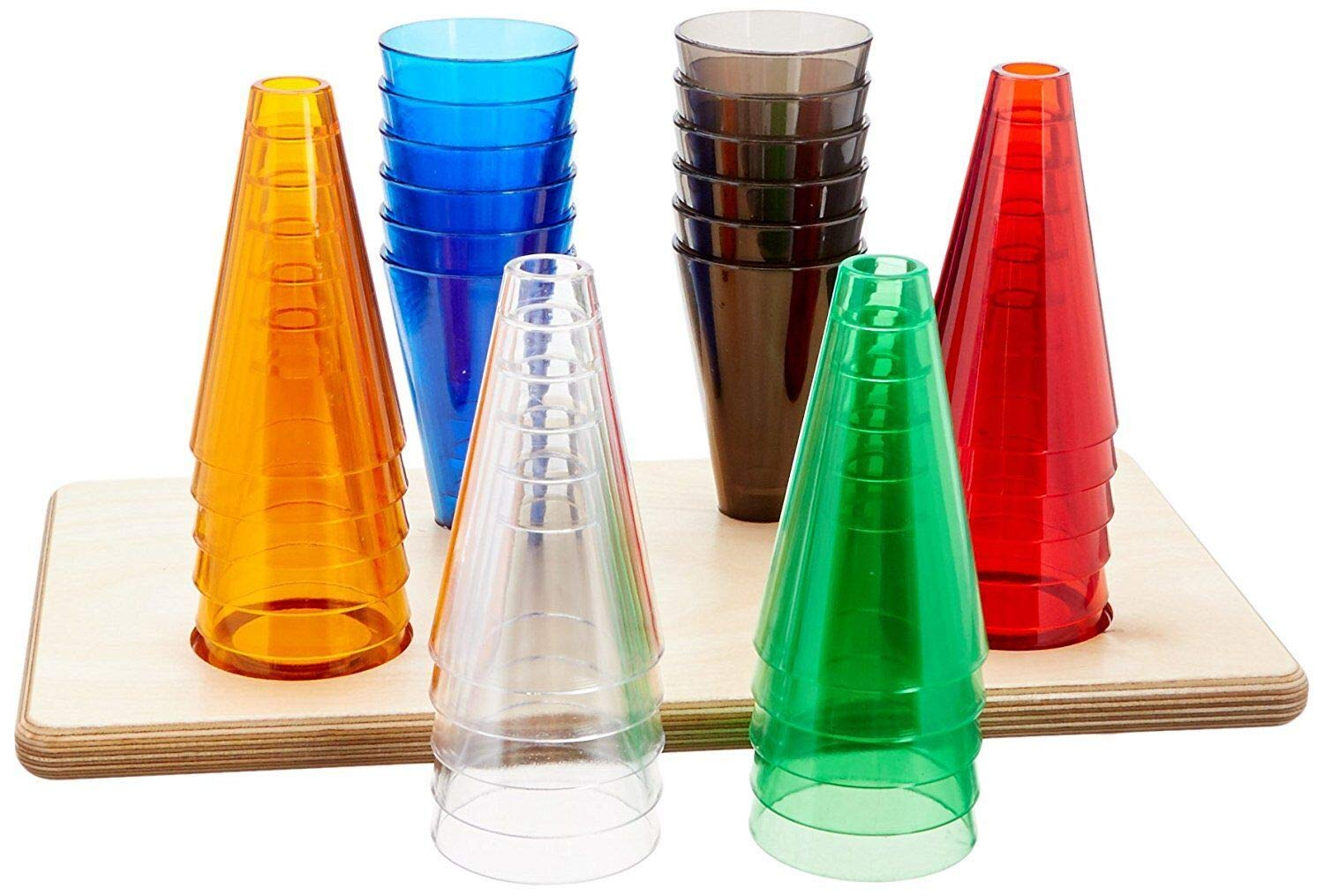 Rolyan Stacking Cones, Set of 12 Replacement Activity Cones with Acrylic Colors for Occupational Therapy, Physical Therapy, Hand Exercises, Perception, and Coordination, Base Not Included by Rolyan