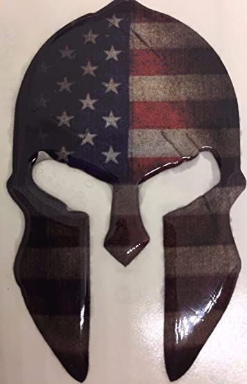 Amazoncom Spartan Gladiator 300 Helmet American Flag Patriotic