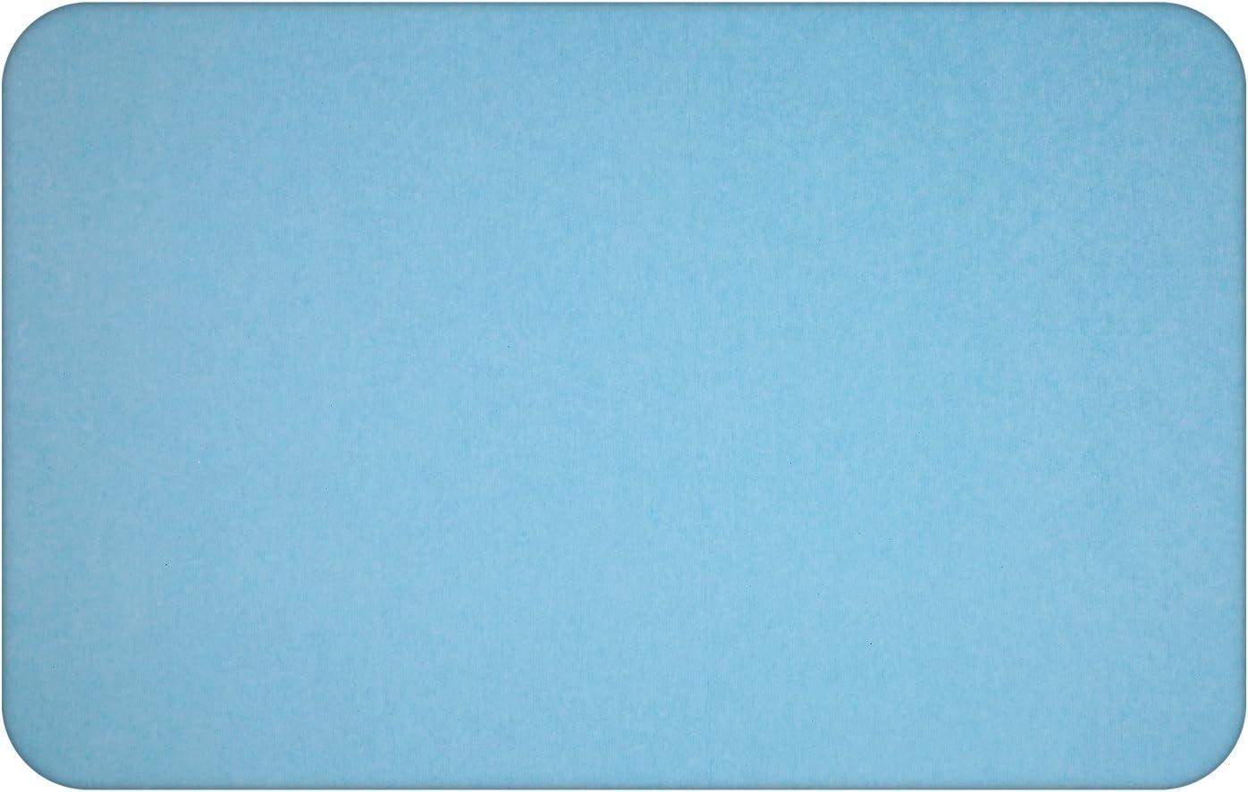 Bleu Tapis Anti-Dérapant Absorbant Séchage Rapide Antibactérien pour Salle de Bains BATHWA Tapis de Bain de Terre de Diatomées Tapis de Douche de Bain