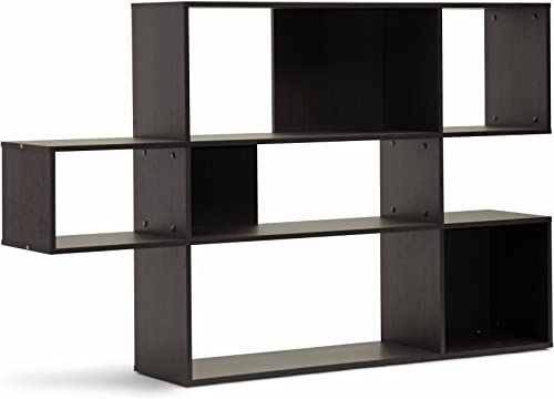Baxton Studio Lanahan 3-Level Modern Display Bookshelf