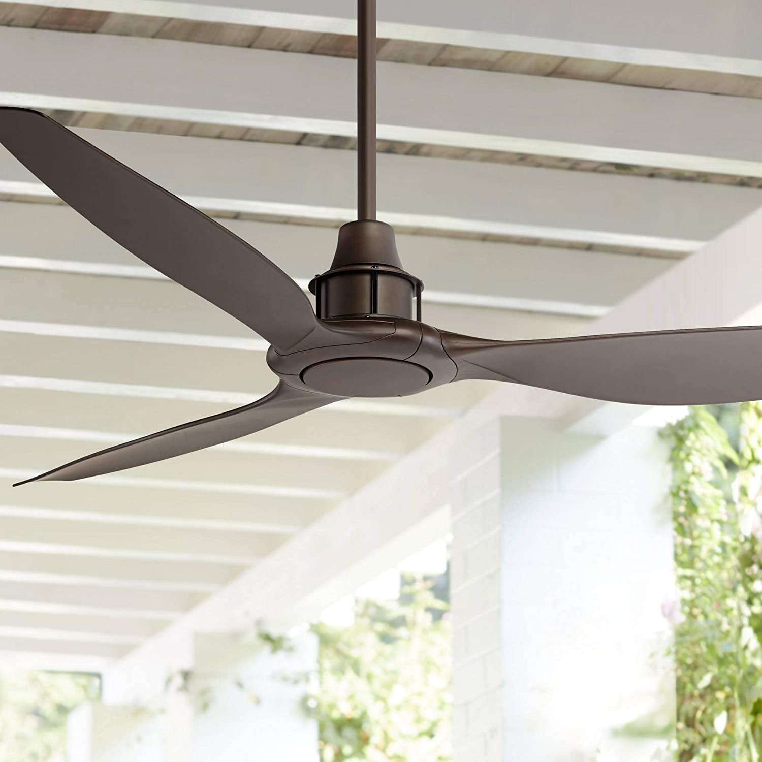 58 Interceptor Modern Outdoor Ceiling Fan With Remote Oil Rubbed Bronze Brown Damp Rated For Patio Porch Casa Vieja Amazon Com