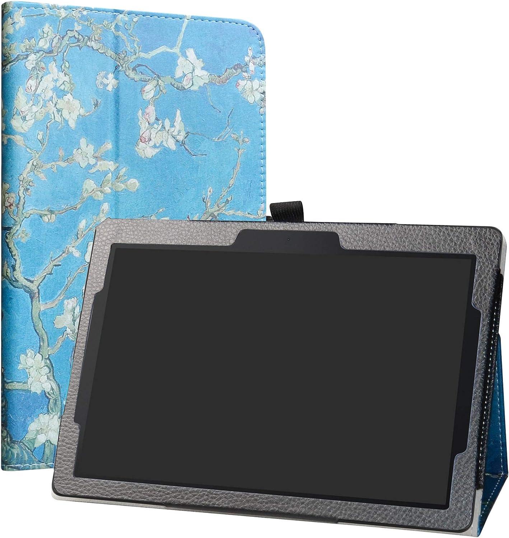 Lenovo Tab E10 Case,LiuShan PU Leather Slim Folding Stand Cover for 10.1