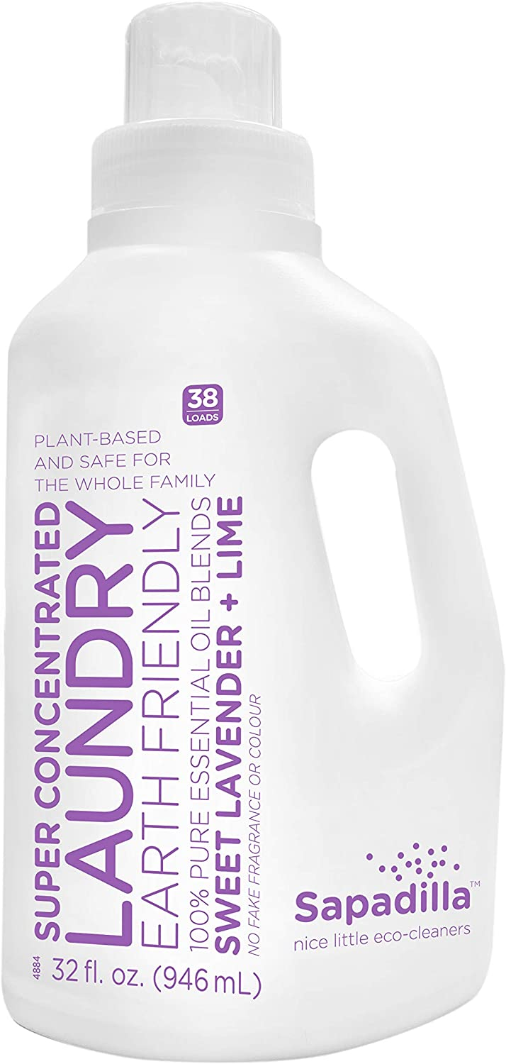 Sapadilla Sweet Lavender + Lime High Efficiency (he) Biodegradeable Laundry Detergent Liquid , 32 Ounce