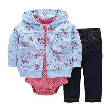 064c9f1c5 Voberry Fashion Newborn Baby Girls Boys Floral Cartoon Coat Tops+ ...