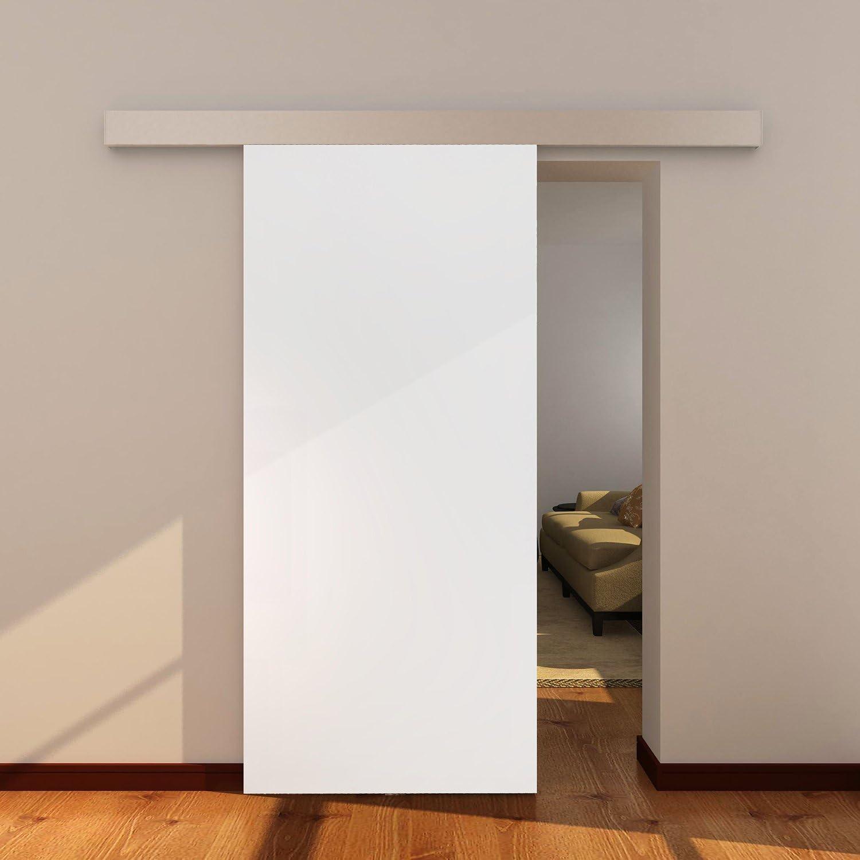 Puerta corredera blanca