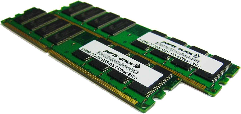 parts-quick 1GB 2 X 512MB PC3200 400MHz 184 pin DDR SDRAM Non-ECC DIMM Desktop Memory RAM for Dell Dimension 4600 Brand