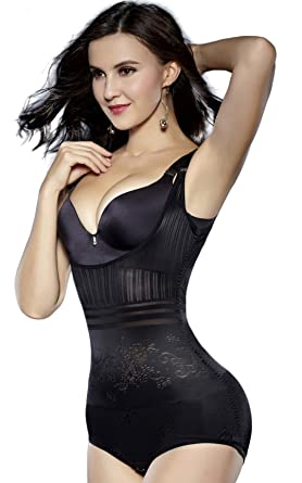 0b5d8718fda4f Sunzel Women s Body Briefer Smooth Wear - Your Own Bra Slimmer Shapewear  Bodysuits (XS