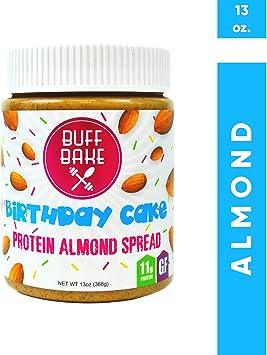 Buff Bake Torta de cumpleaños de la torta de almendra de proteína Pastel de cumpleaños 1 cargo