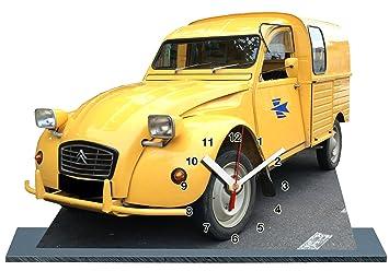 2cv camionnette jaune