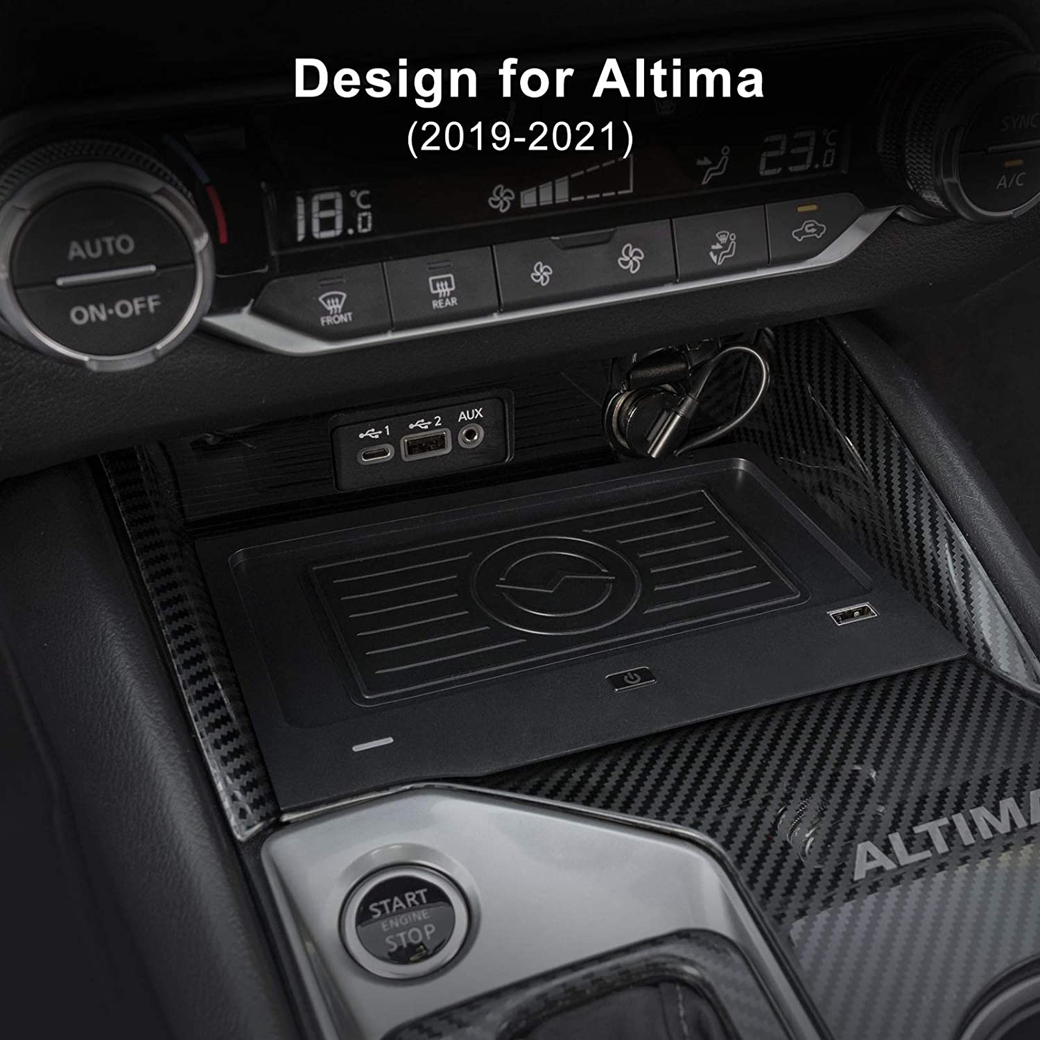SL SR VC-Turbo Platinum VC-Turbo Edition One SR Wireless Charger for Nissan Altima 2019-2021 L34 Accessories Phone Wireless Charging Pad Mat fit for S SV Platinum