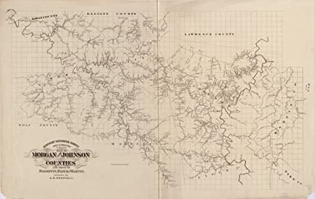 Amazon.com: Map: 1880 of Morgan and Johnson counties and ...