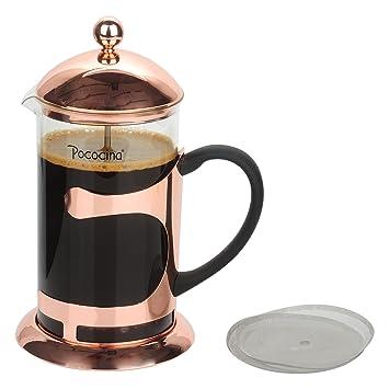 Cafetera de Prensa Café Francés de 8 Tazas de 1000ML y Émbolo de Té de Pococina