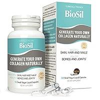 BioSil Liquid Capsules by Natural Factors, Vegan Collagen Generator, Non-GMO, 60...