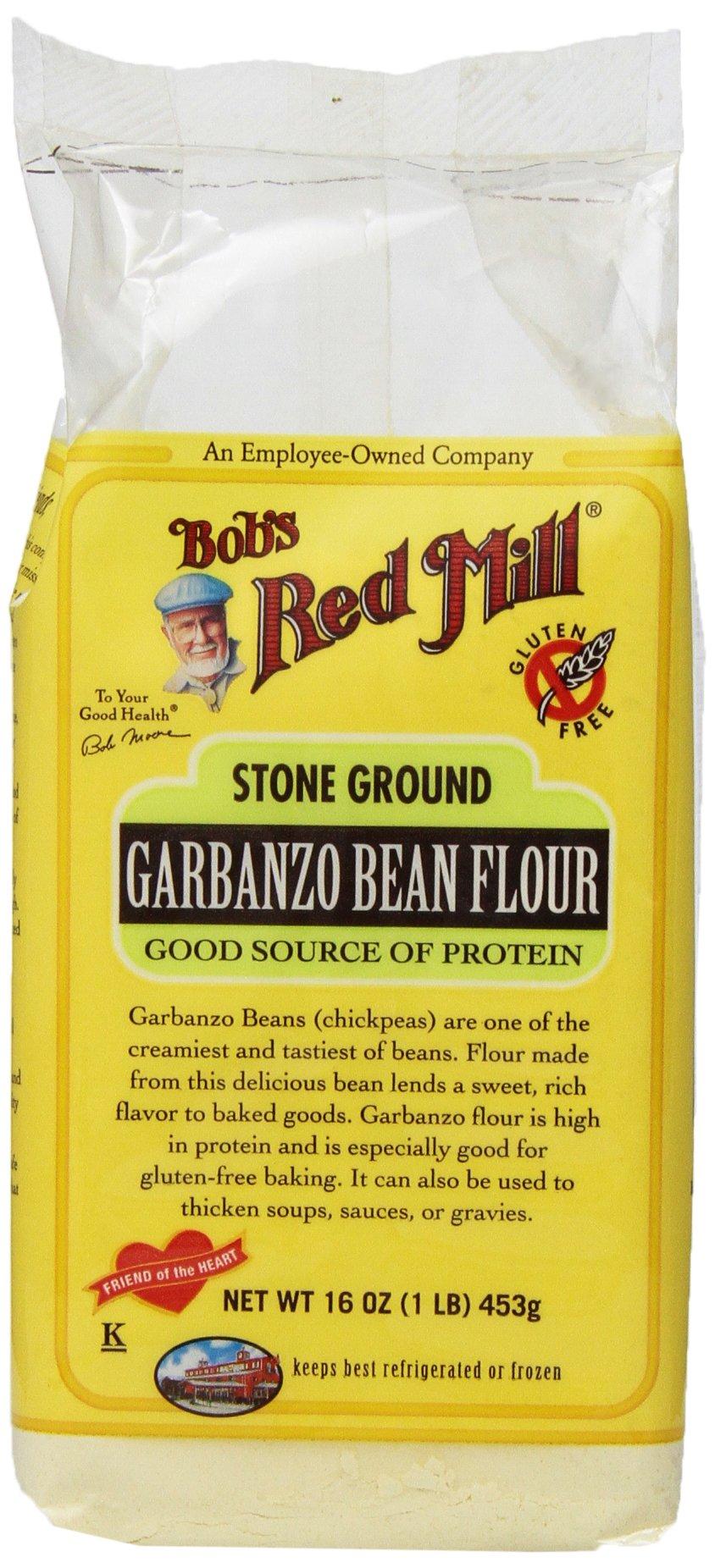 Bobs Red Mill Garbanzo Bean Flour, 16 Ounce (Pack of 4)