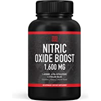 Nitric Oxide Booster Supplement - 1600mg Extra Strength L-Arginine, Citrulline Malate, and Alpha-Ketoglutarate for…