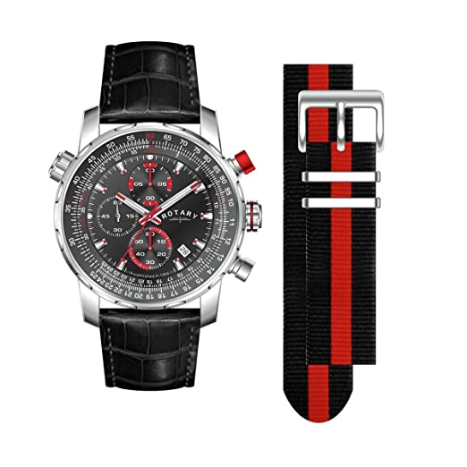 104c9d4dc31 Rotary GS03641 04 KIT Men s Interchangeable Chronograph Leather Strap Watch.   Rotary  Amazon.co.uk  Watches