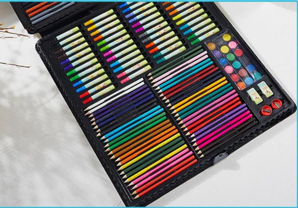 LLZJ Art Drawing Sets Children 288 Pcs Student School Coloured Design Brush Gifts Professional Supplies Stationery Creative Pencils Painting Kids Watercolor Pen, black by LLZJ (Image #3)