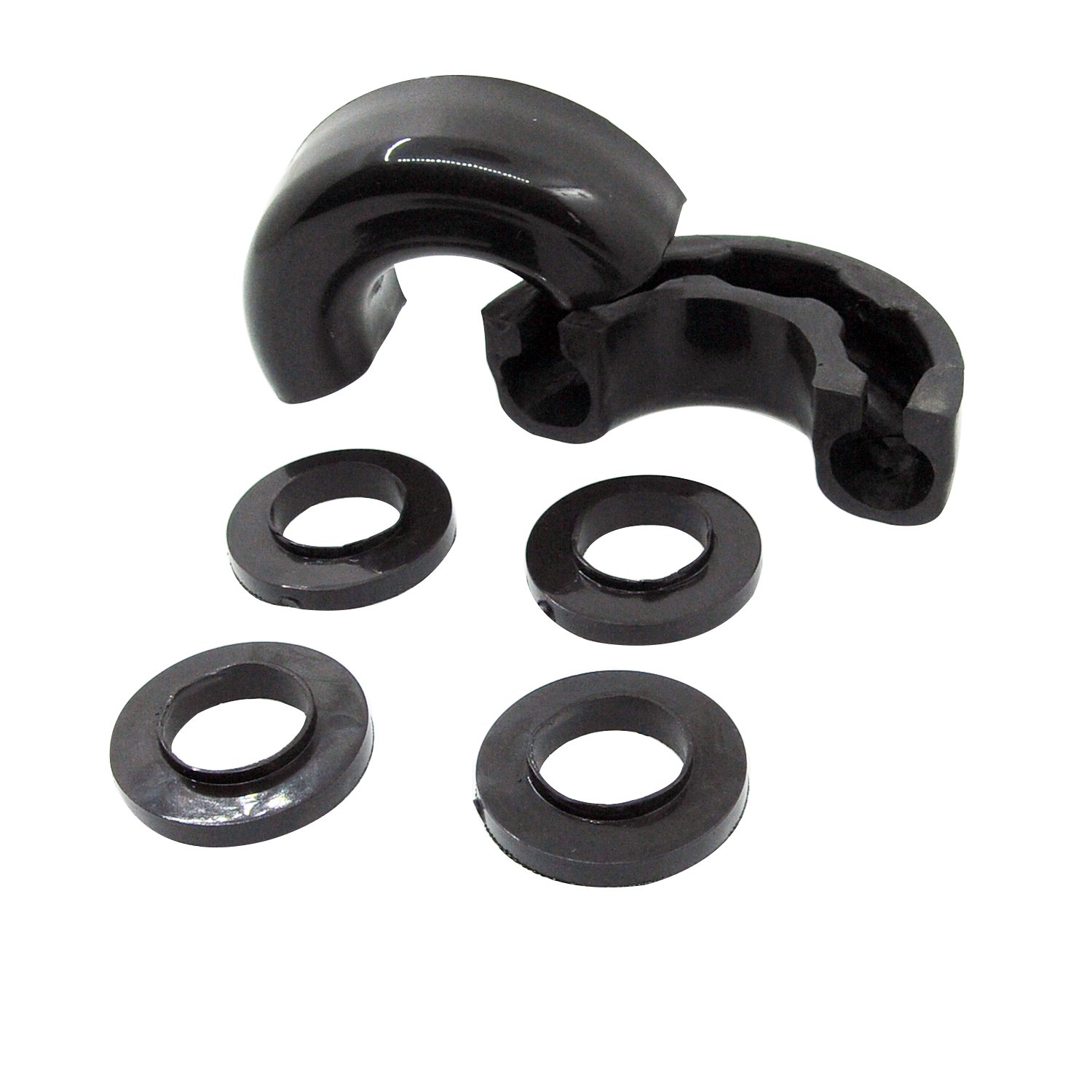 E-Autogrilles Pair Black Isolator Fits 3/4 inch Tow D-rings - Includes 2 Rubber Isolators and 4 Washers - Shackle Isolator Clevis Kit (51-0515B)