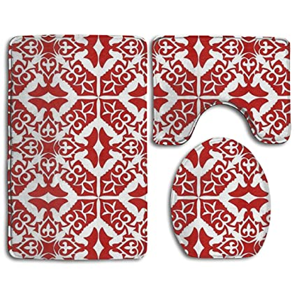 Surprising Amazon Com Pomduct Moroccan Tile Dark Red And White Unemploymentrelief Wooden Chair Designs For Living Room Unemploymentrelieforg