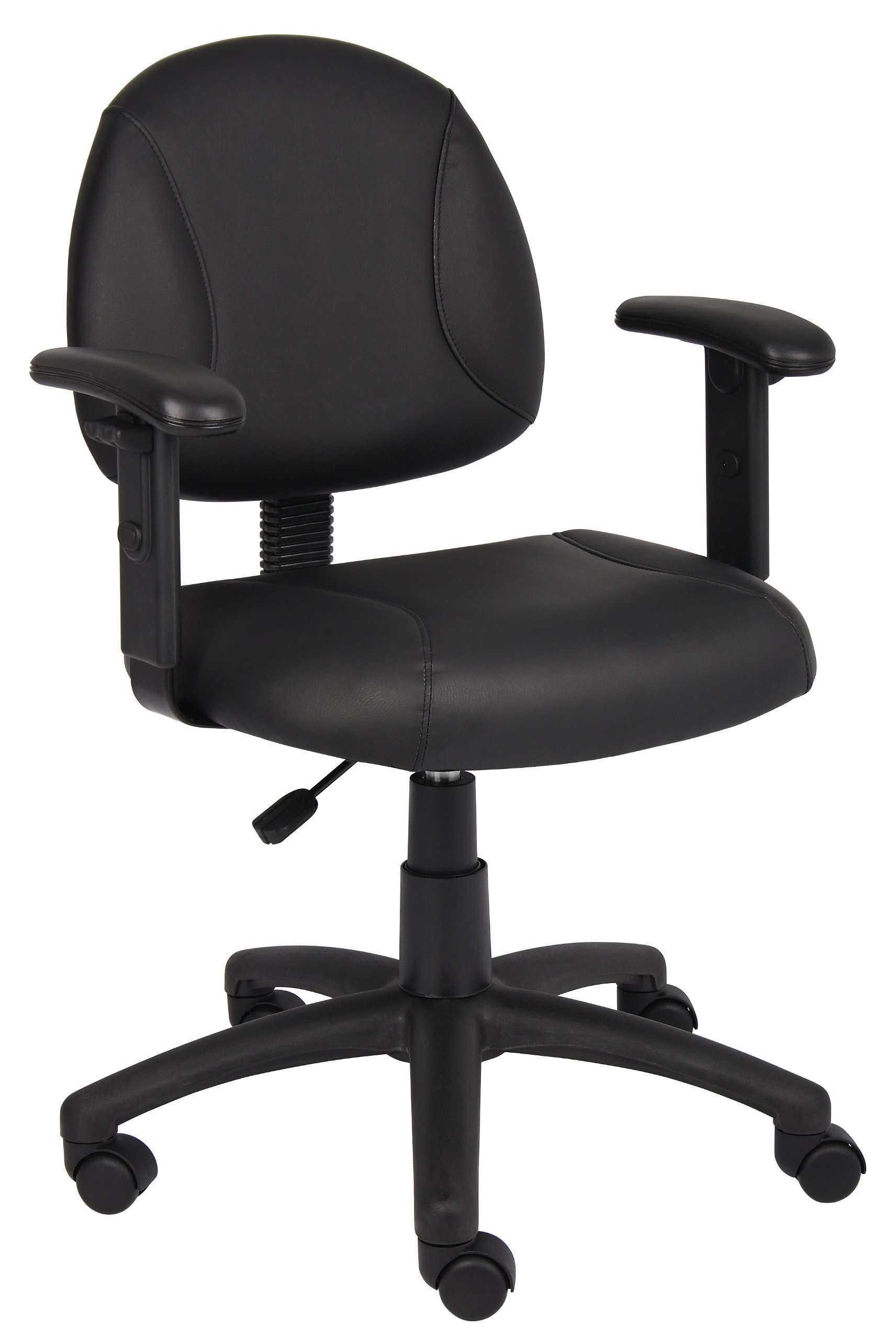 Boss Office Products B306 Posture Task Chair with Adjustable Arms in Black