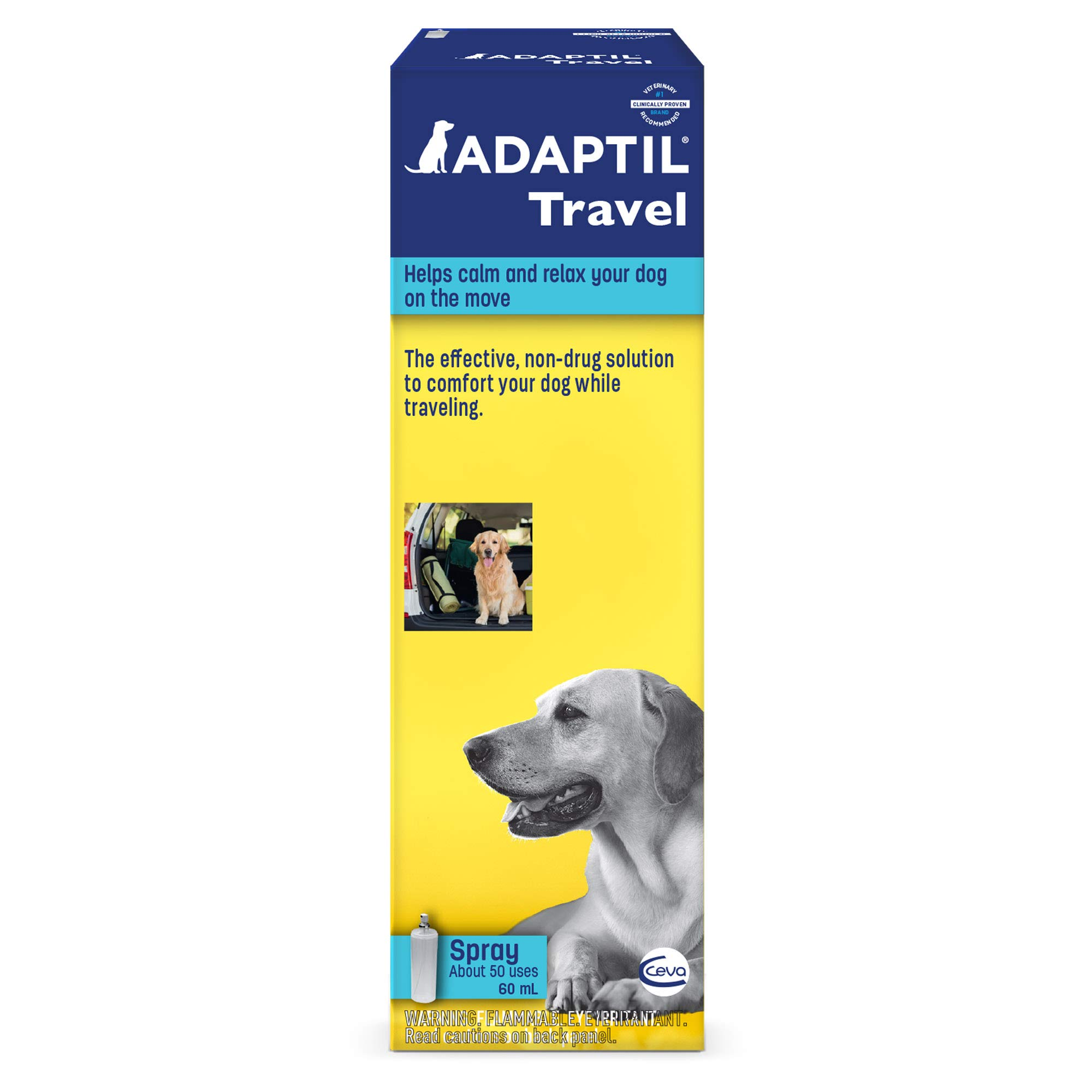 Adaptil Travel Calming Spray For Dogs(60 ml) - Calming & Comfort During Travel by Adaptil