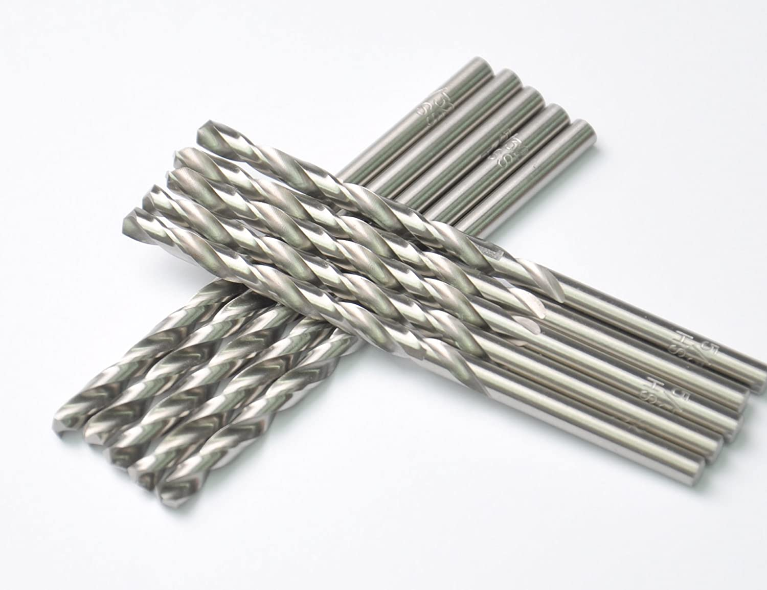 Aluminum Ideal for Drilling on mild Steel Fully Ground with White Finished Copper 7//64 Metal Drill 10 PCS,7//64 HSS Jobber Length Twist Drill Bits Zinc Alloy etc