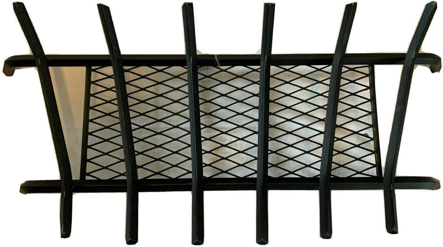 Black Cast Iron Fireplace Log Grate 30 inch Heavy Duty with Ember Retainer 1//2 Indoor Chimney Hearth Outdoor Small Hole Kindling Tools Firewood Burning Rack Holder Pit Wood Stove