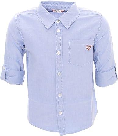 Guess N01H00W9CL0 Camisa niño Celeste 4A: Amazon.es: Ropa y accesorios
