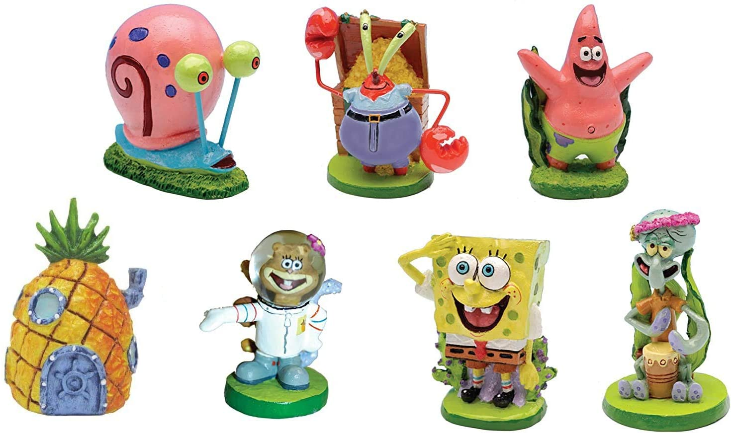 "SpongeBob SquarePants® 2"" Aquarium Ornaments, 7-Piece Set"