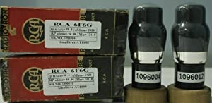 1MP 6F6G RCA NOS Nib Black Coated Glass Made in U.S.A Amplitrex Tested#1096012&4