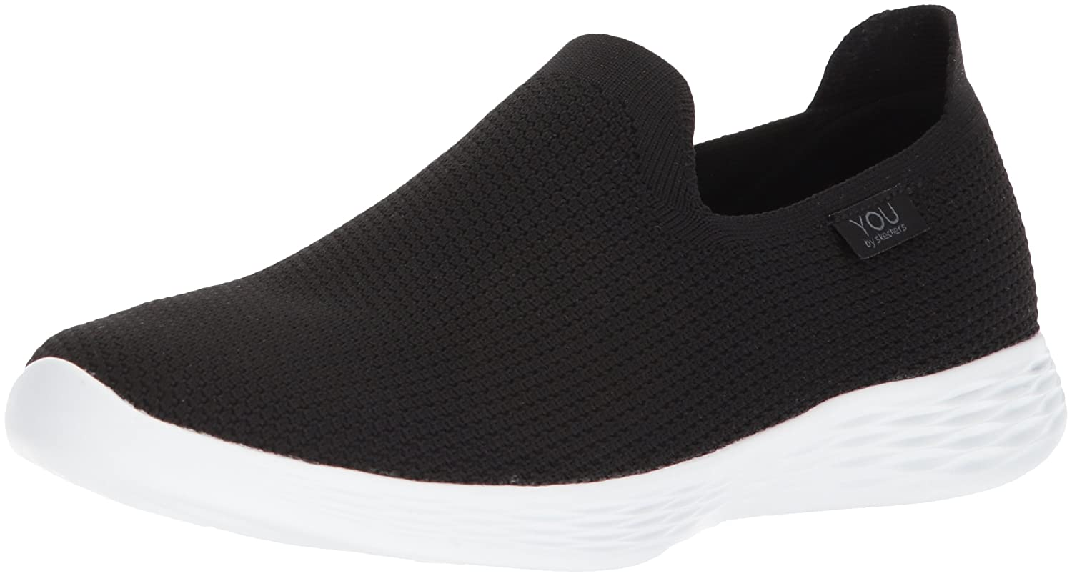 Skechers You Define-Zen, Zapatillas sin Cordones para Mujer 39 EU|Negro (Black/White Bkw)