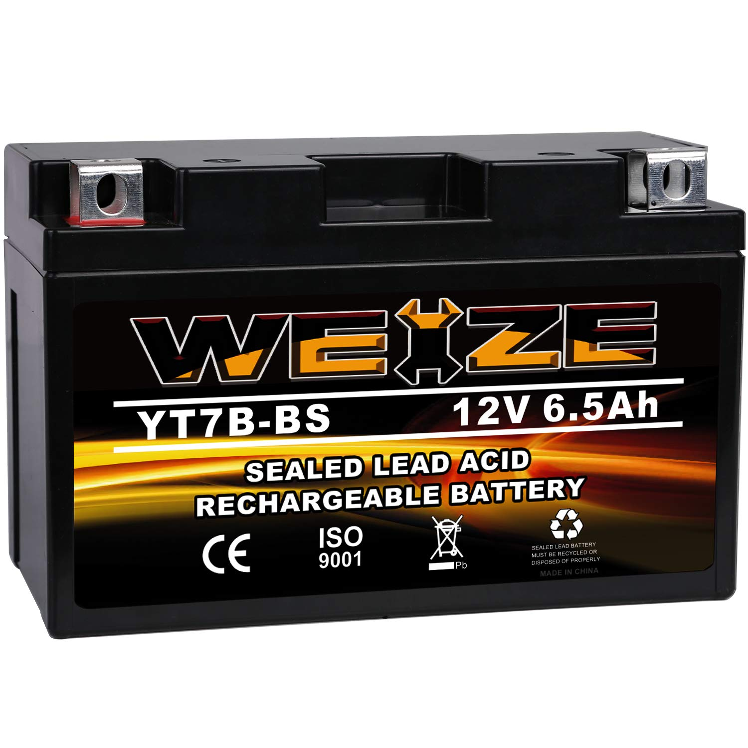 Weize YT7B-BS Battery High Performance - Maintenance Free - Sealed AGM Motorcycle Battery YT7B BS For Yamaha ATV