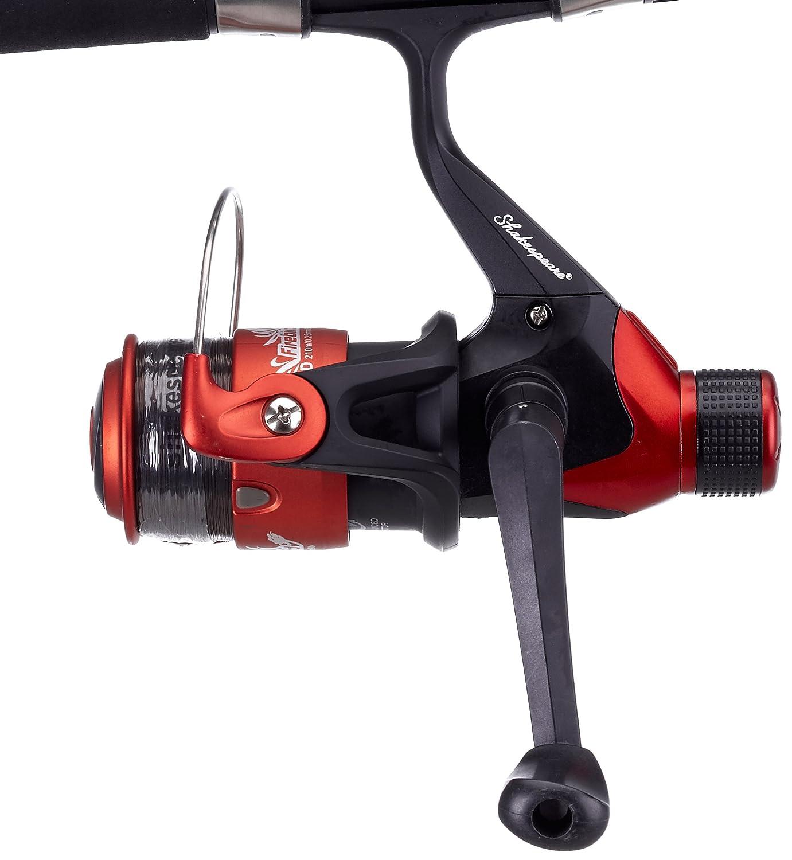 shakespeare firebird telescopic spinning combo pure fishing