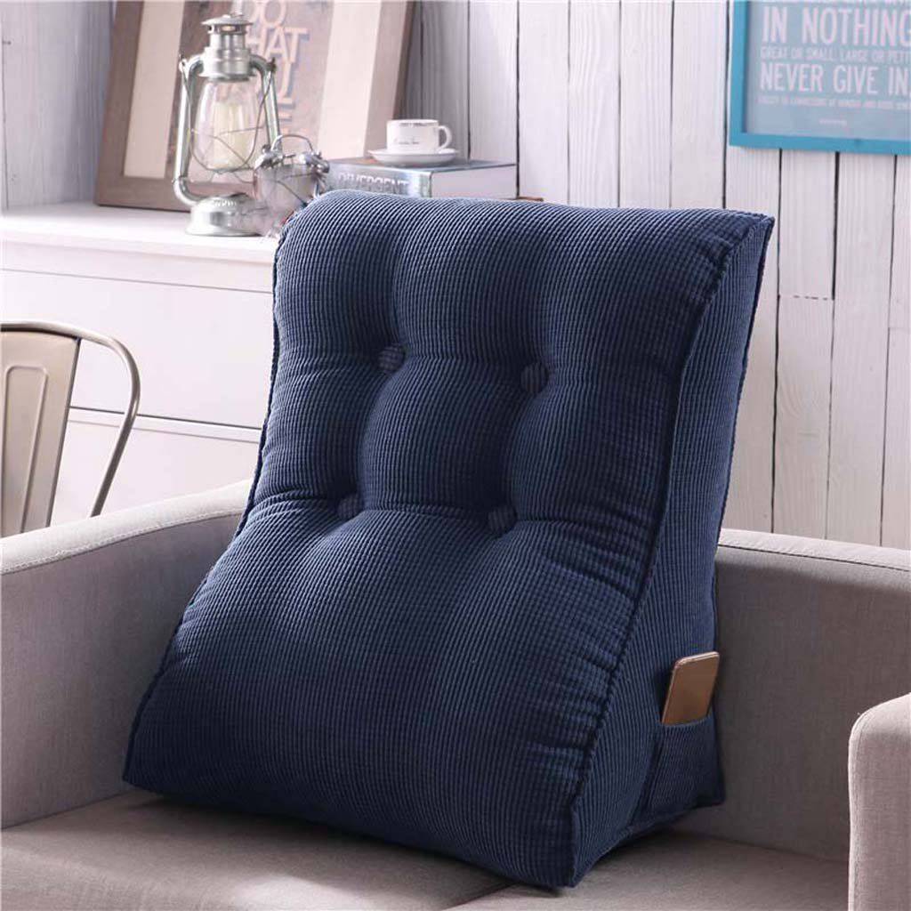 TIANTA-Cushion High multi - functional triangular big backrest removable leather waist cushions high - elastic Zhenzhu Mian ( Color : T , Size : 5560cm )