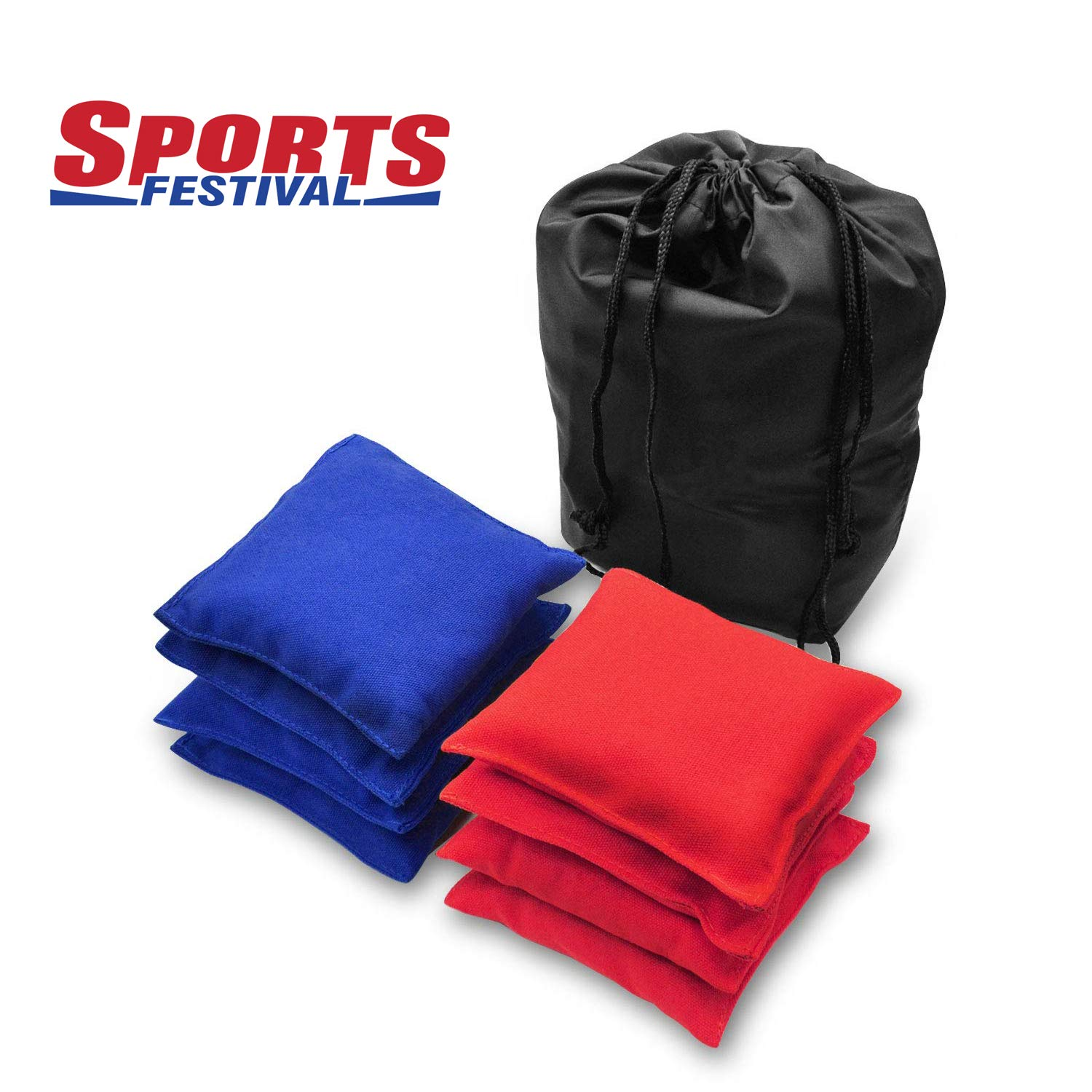 LOKATSE HOME Premium Weatherproof Replacement Bean Bags for Cornhole Toss - 8 Bags Included ( Red & Blue ) by LOKATSE HOME