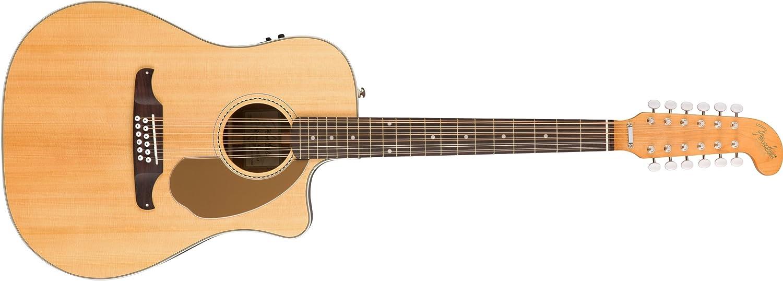 Fender Villager - Guitarra acústica (12 cuerdas, natural), color ...