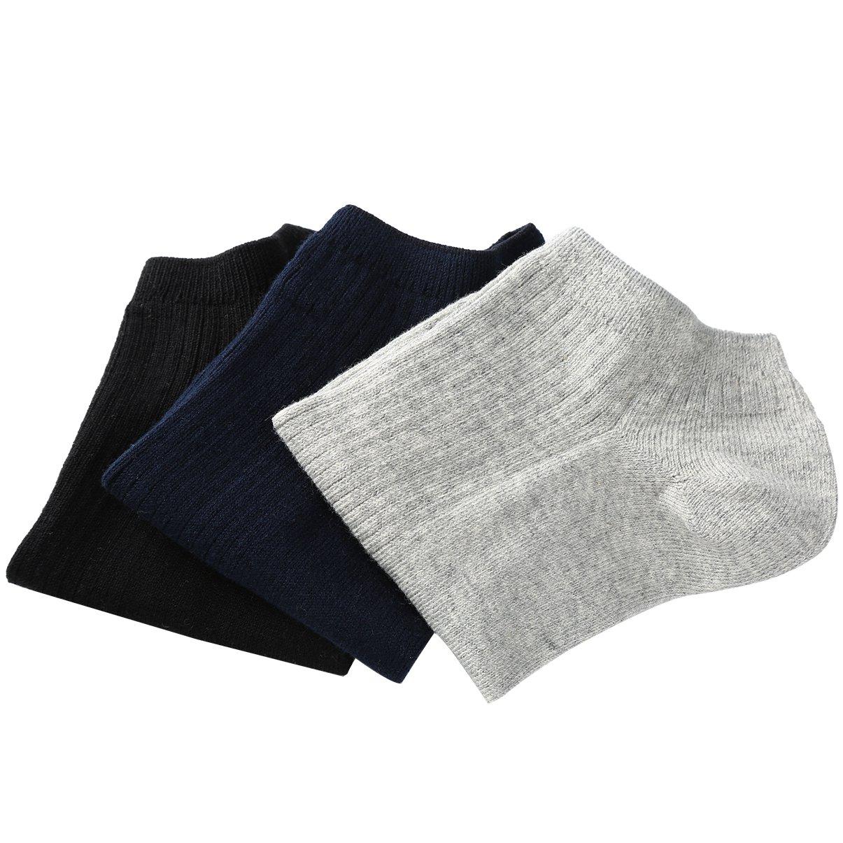 VBIGER 6 Pares Calcetines Cortos Hombre Casual Calcetines Deportivos de Algodón