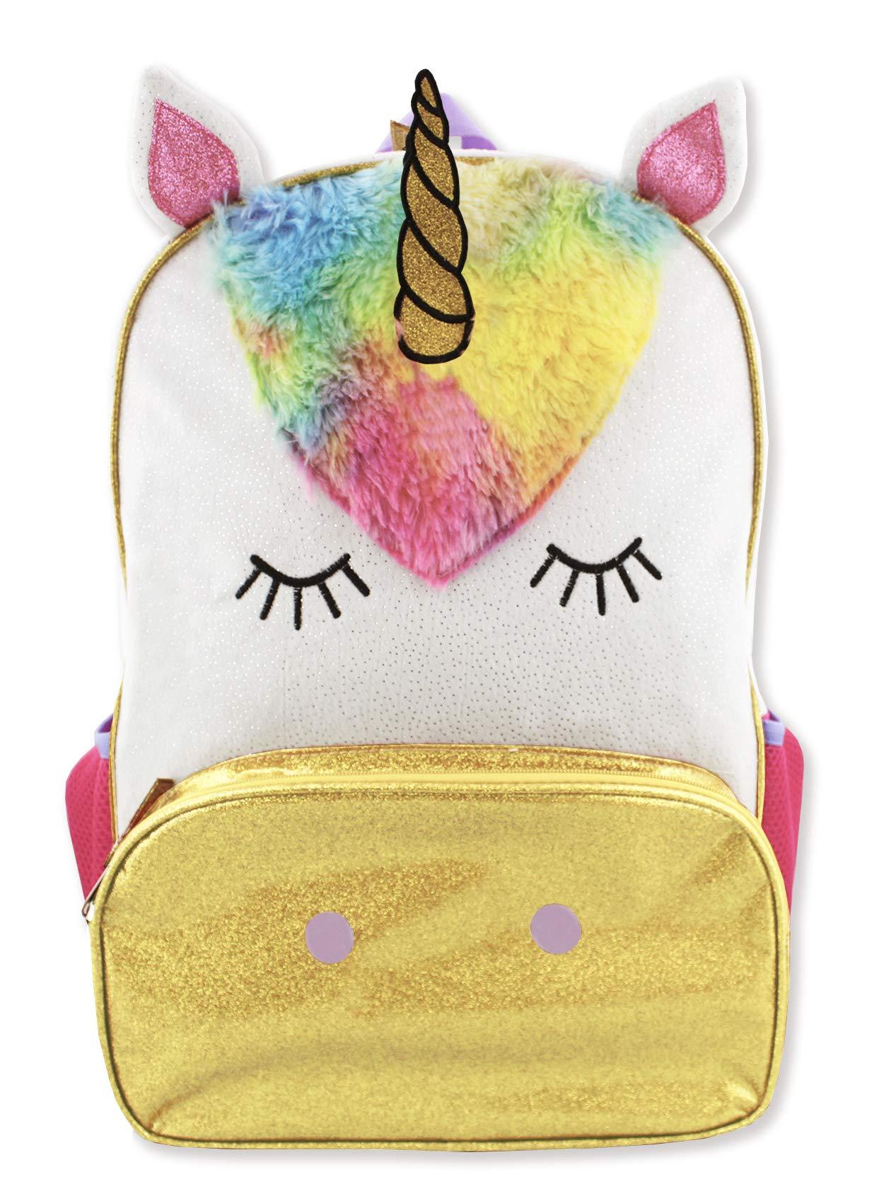 Unicorn Girls 16 inch Fantasy School Backpack (One Size, Pink/White)