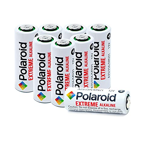 Polaroid A23 23A 12V GP23AE Extreme Alkaline Batteries Mercury Free Blister Packaging 8-Pack
